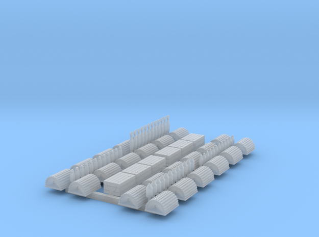 N Scale Lobster Trap, Round Top with End Eye- 24 in Frosted Ultra Detail