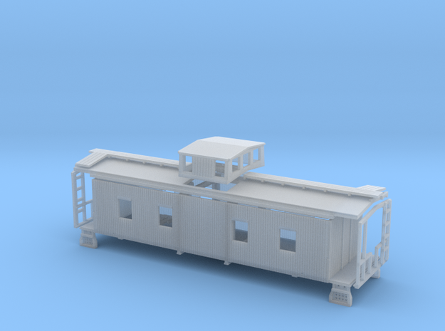 N Wood Caboose Southern Railway Style in Smooth Fine Detail Plastic