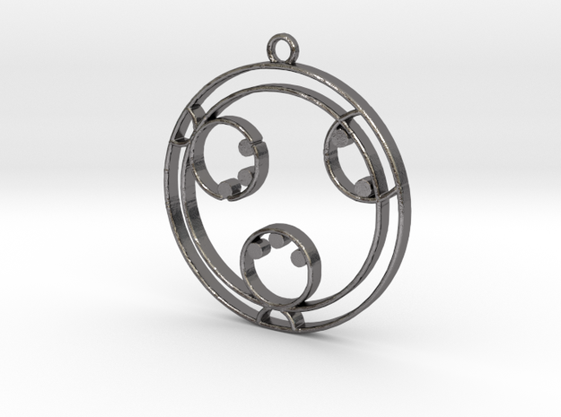 Layla - Necklace in Polished Nickel Steel
