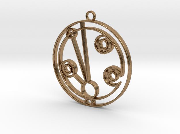 Madeleine - Necklace in Raw Brass