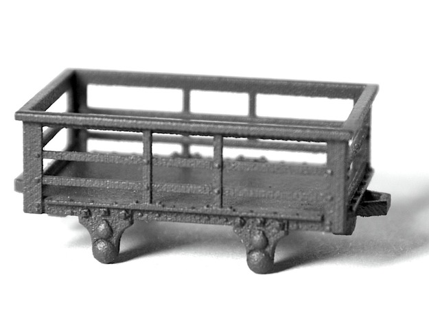 5x FR type 2t Slate Wagons (009) in Smooth Fine Detail Plastic