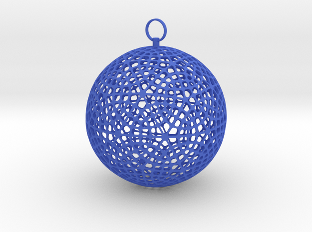 Christmas ornament in Blue Strong & Flexible Polished