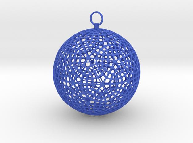 Christmas ornament in Blue Processed Versatile Plastic