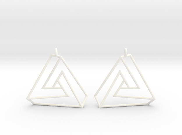 Impossible earrings with a twist  3d printed