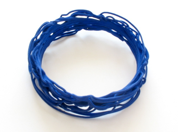 Turbulent Bangle 1 in Blue Strong & Flexible Polished
