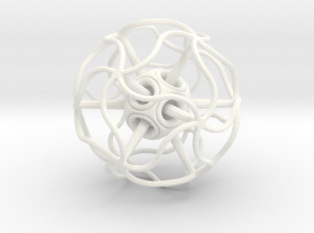 Dodeca (L) in White Processed Versatile Plastic