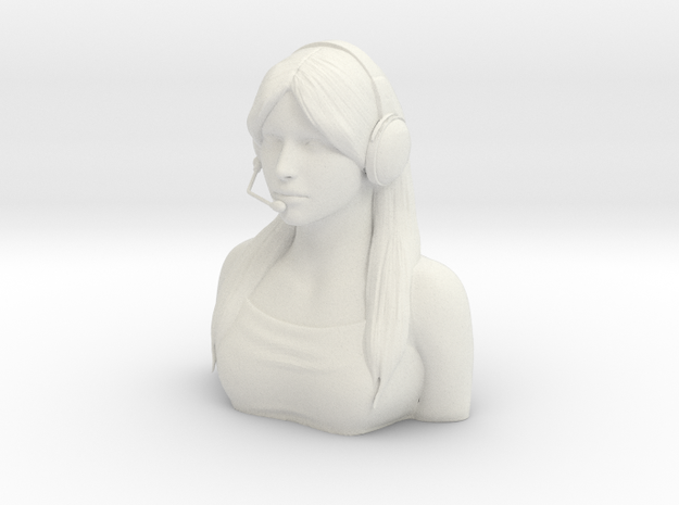 Female Pilot Figure 1/5 in White Natural Versatile Plastic