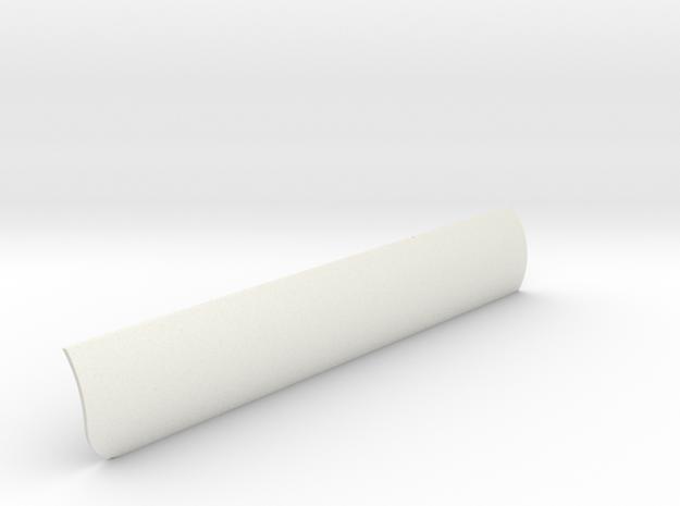 Heat Shield Port V0.1 in White Strong & Flexible