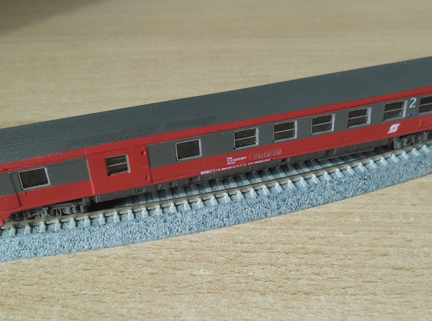 ÖBB Eurofima Halbgepäckwagen 1:160 in Smooth Fine Detail Plastic
