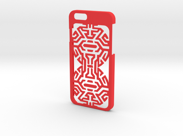 iPhone 6 case with goth Tribal in Red Processed Versatile Plastic