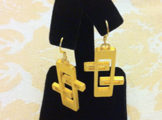 "1950s ""Googie"" Inspired Earrings 3d printed Note ear wires not included."