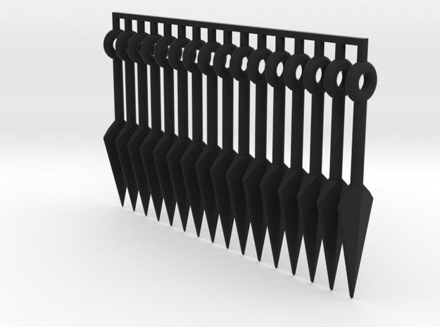 1:6 Scale Kunai X16 pcs 3d printed