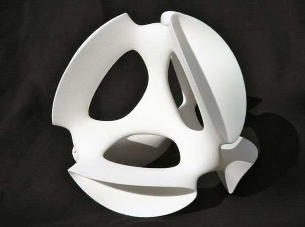 A smoothed Kummer Surface, 19.2cm (7.6in) in White Strong & Flexible