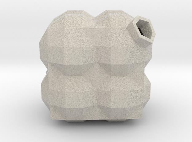 Bauble, Cubic, Quadrantic in Sandstone