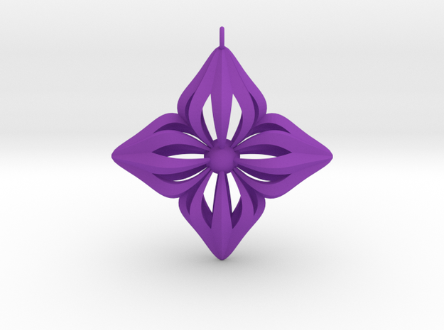 Star Ornament in Purple Processed Versatile Plastic