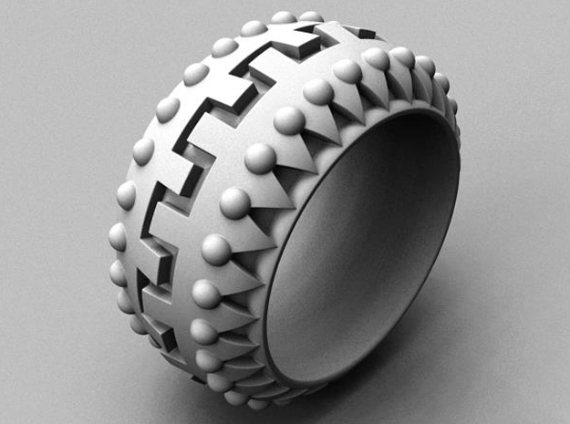Tantra Ring - Size 11 1/2 (21.08 mm) in Polished Silver