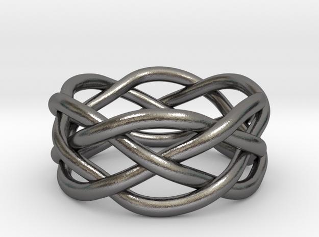 Dreamweaver Ring (Size 6) in Polished Nickel Steel