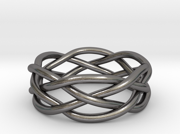 Dreamweaver Ring (Size 11) in Polished Nickel Steel