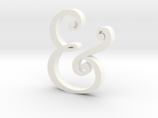Acrylic Ampersand in White Processed Versatile Plastic
