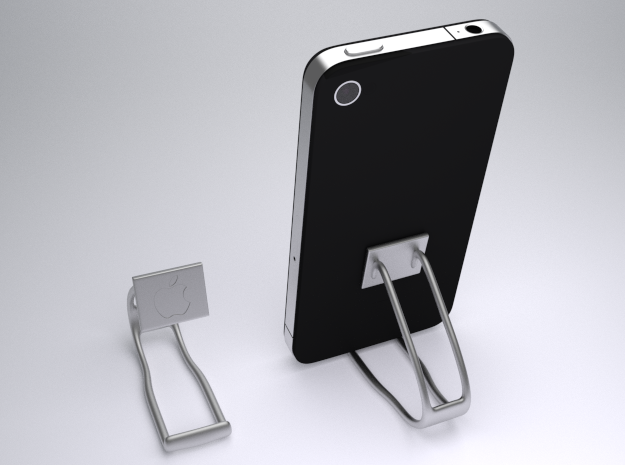 Iphone Stand in Metallic Plastic