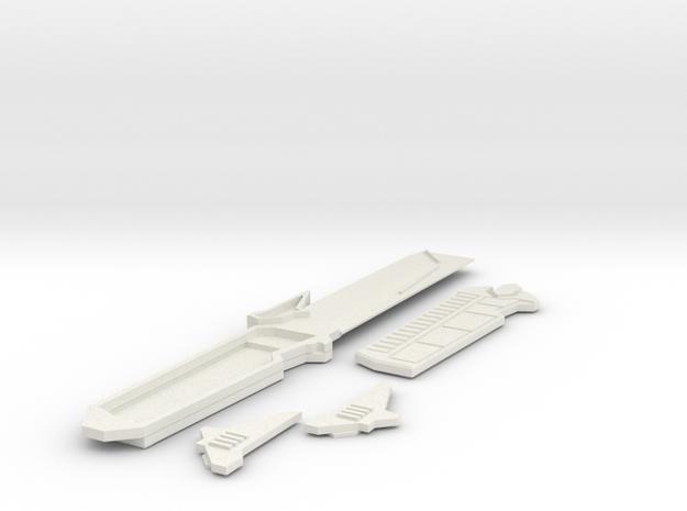 Mando Prop no Sheath in White Natural Versatile Plastic