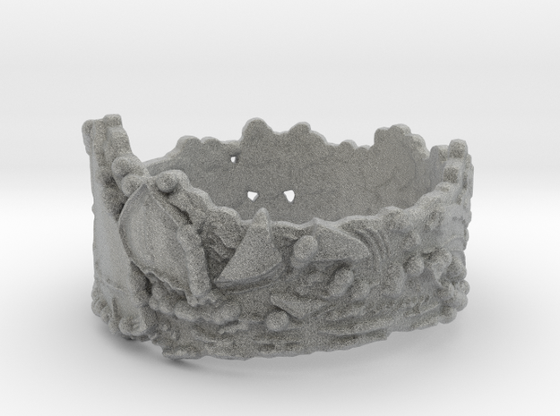 Cloud Ships #1, Ring Size 7 3d printed