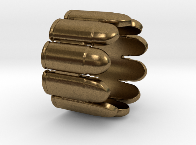 Pistol Bullets, 10, Thick, Ring Size 6 3d printed