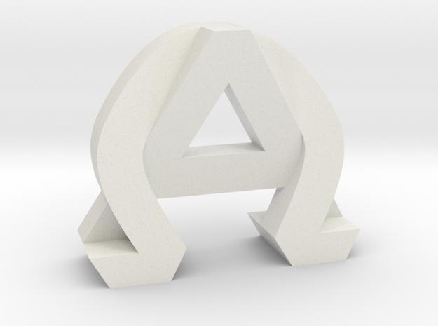 AlphaOmega (Solid) in White Natural Versatile Plastic