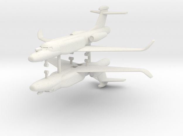 1/285 G550 Conformal Airborne Early Warning (x2) in White Natural Versatile Plastic