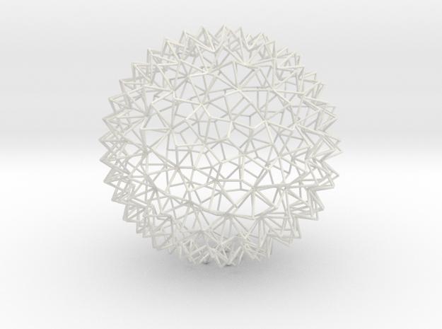 Amazing Mesh Sphere in White Natural Versatile Plastic