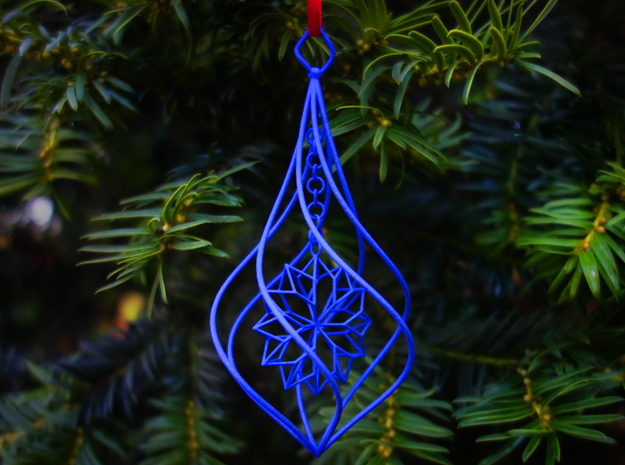 Christmas Tree Ornament (Bauble) - Snowflake 3d printed Christmas Tree Ornament