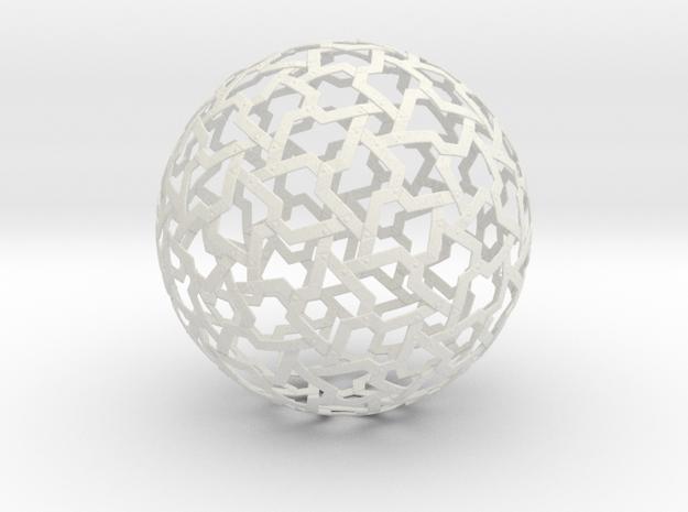 Ball Mesh in White Natural Versatile Plastic
