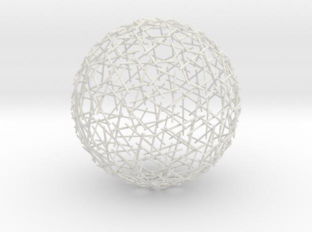 Spherical Mystery in White Natural Versatile Plastic