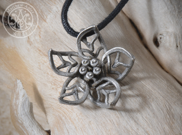 Blossom #7 in Polished Bronzed Silver Steel