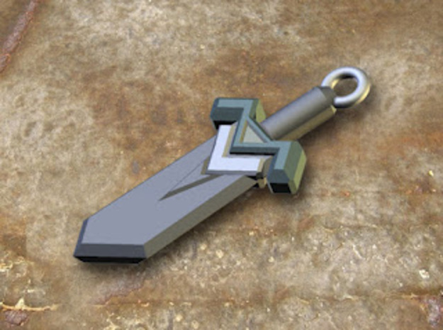 Dark Steel Sword Pendant in Stainless Steel