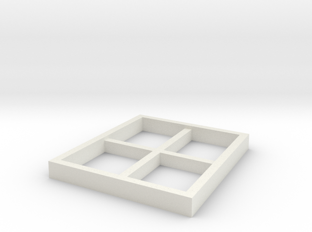 AVS Right Outer Window in White Natural Versatile Plastic
