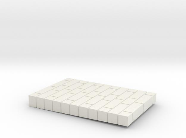 Brick Base in White Natural Versatile Plastic
