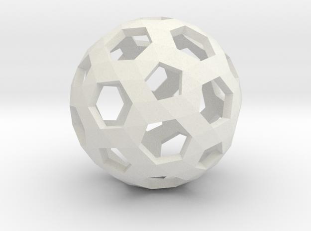 Football Holes Sphere in White Natural Versatile Plastic
