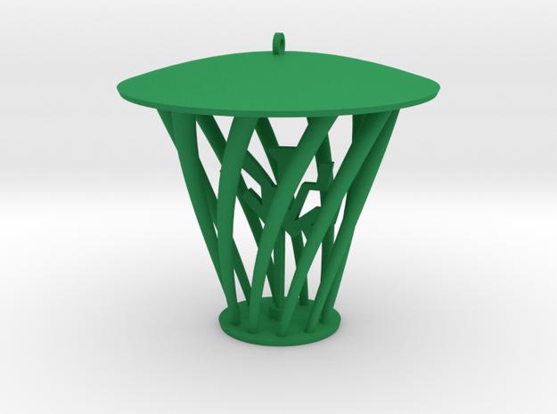 Hip Pendant in Green Processed Versatile Plastic