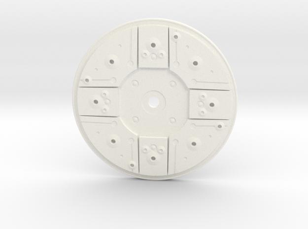 Y Wing Helmet Left Side Disk in White Processed Versatile Plastic