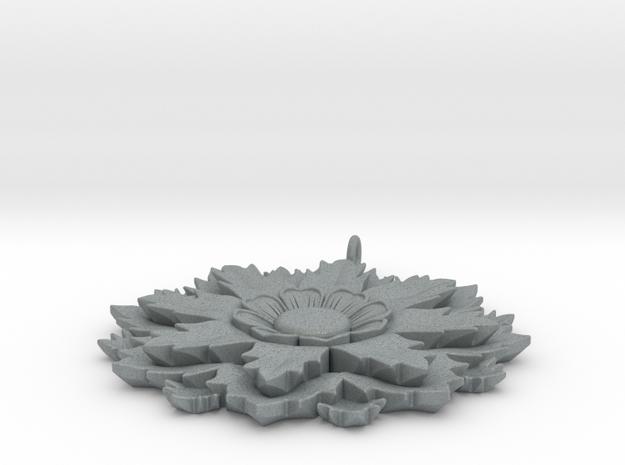 Flower Pendant in Polished Metallic Plastic