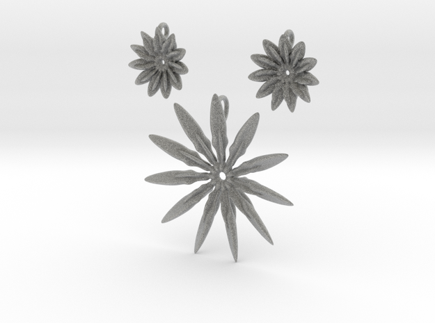 Paddles 11 Points Pendant & Earring Pack 3d printed