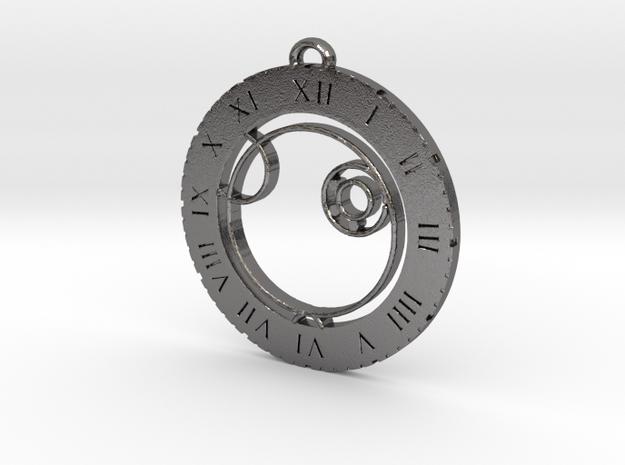 Alex - Pendant in Polished Nickel Steel