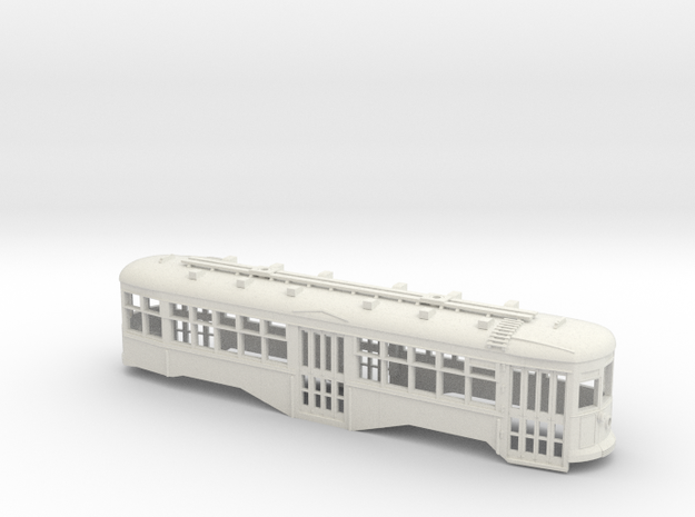S Scale BQ&T 8000-Series Peter Witt BODY in White Strong & Flexible