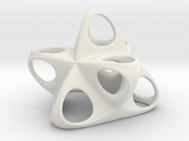 Merkaba Flatbase R1 5cm in White Natural Versatile Plastic