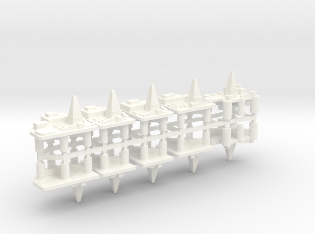 60TD03 1:6000 Oilrigs x10 in White Strong & Flexible Polished