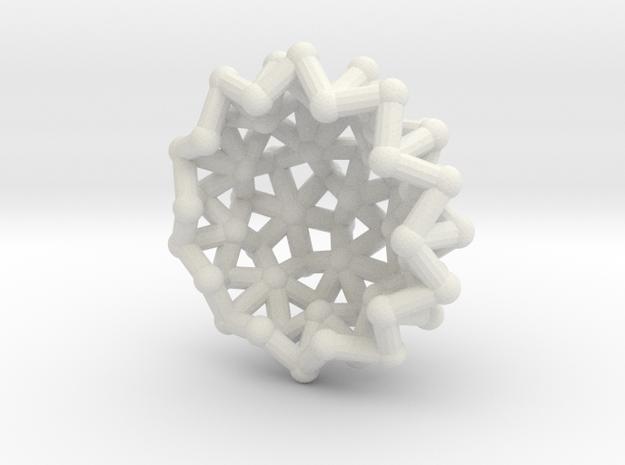 Tessa2 Half WireBalls - 1cm in White Natural Versatile Plastic