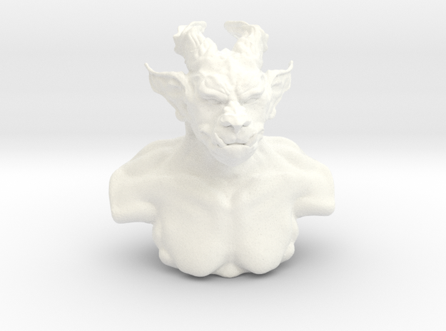 Troll bust in White Strong & Flexible Polished