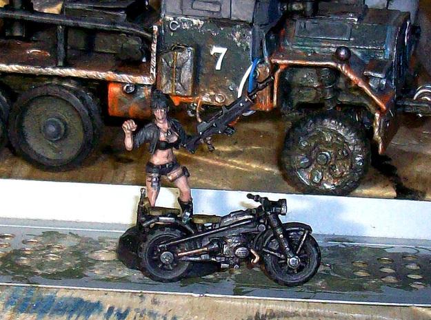 28mm WW2-style Motorbike model-2 (X10)