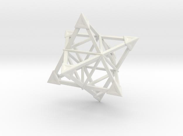 Merkaba Wire 1 Caps 5cm in White Natural Versatile Plastic